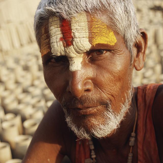"""""""Hindu potter ( Nepal)"""" stock image"""