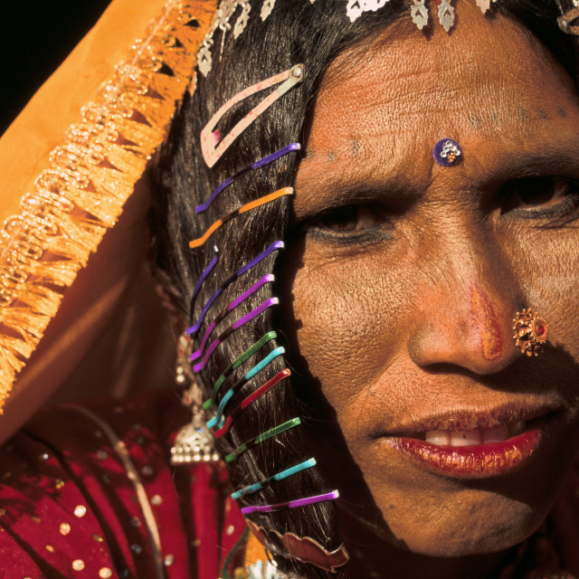 """Woman from the Thar desert ( India)"" stock image"