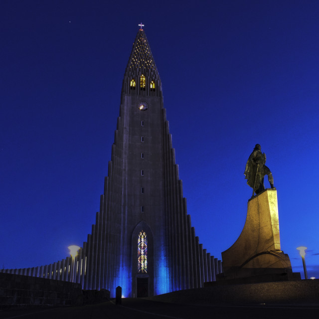 """Hallgrimskirkja, - Church of Iceland"" stock image"