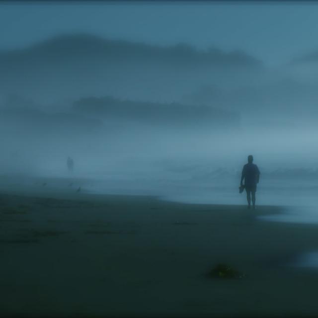 """MONTEREY BAY BEACH SCENE"" stock image"