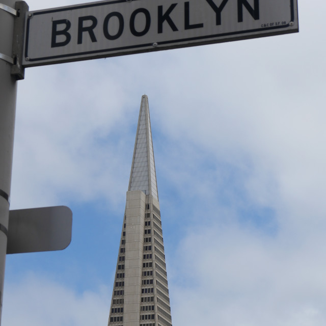 """BROOKLYN STREET IN SAN FRANCISCO"" stock image"