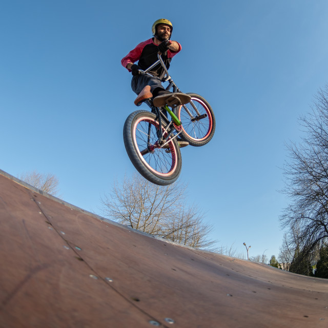 """""""High BMX jump"""" stock image"""