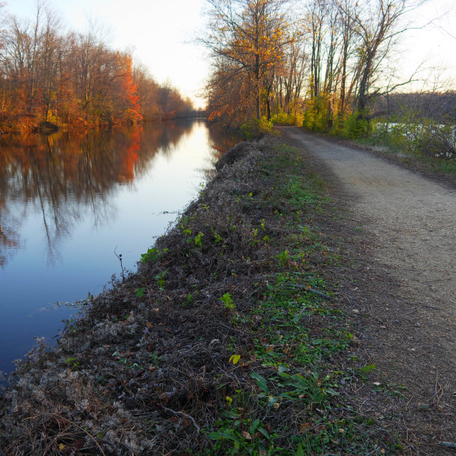 """DELAWARE AND RARITAN CANAL"" stock image"