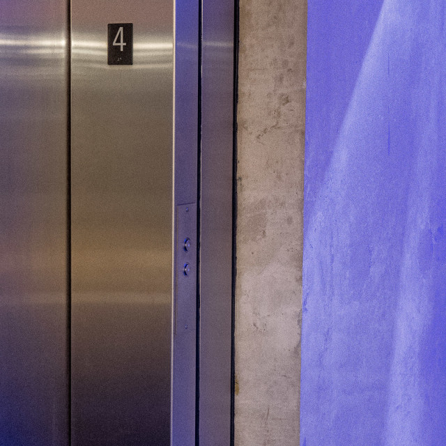 """NEON ELEVATOR"" stock image"