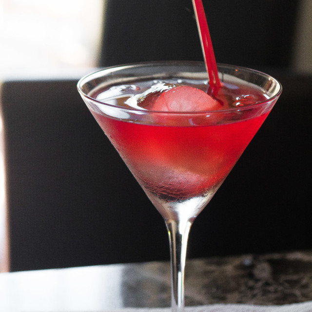 """RED COCKTAIL"" stock image"
