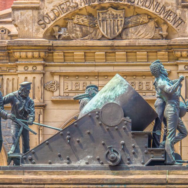 """""""CLEVELAND OHIO STREET SCENE"""" stock image"""