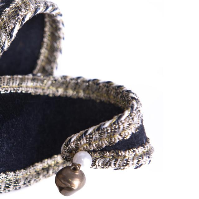"""little venetian Harlequin mask isolated on white background"" stock image"