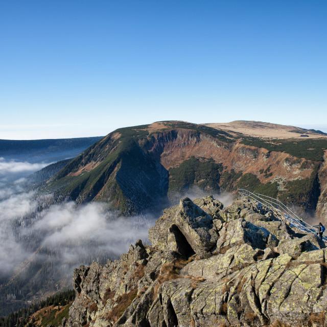 """""""Karkonosze Mountains Landscape from Sniezka Mountain"""" stock image"""