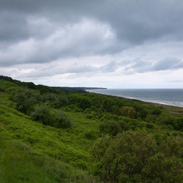 """Normandy Coast Line"" stock image"