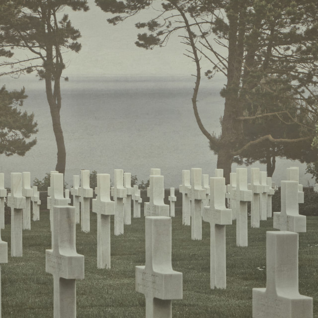 """Normandy American Cemetery"" stock image"