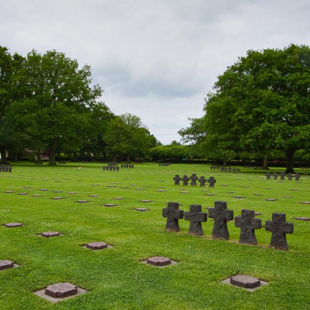 """La Cambe German War Cemetery"" stock image"