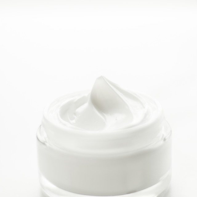 """Luxury face cream jar, moisturizing cosmetics"" stock image"