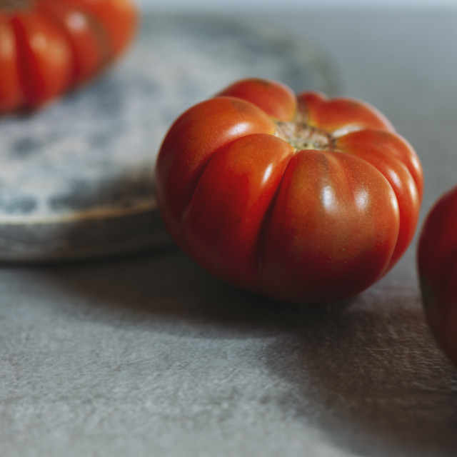 """""""Fresh red Marmande RAF red tomatoes"""" stock image"""