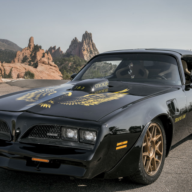 """""""Trans Am on the Rocks"""" stock image"""