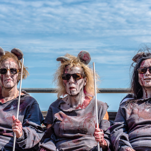 """THREE BLIND MICE ZOMBIES"" stock image"