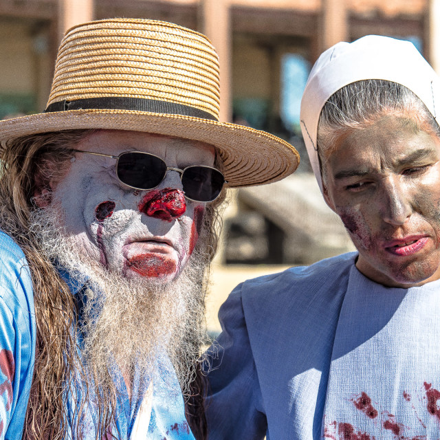 """AMISH ZOMBIES"" stock image"