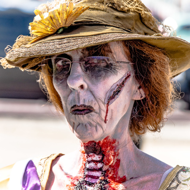 """OLD WOMAN ZOMBIE"" stock image"