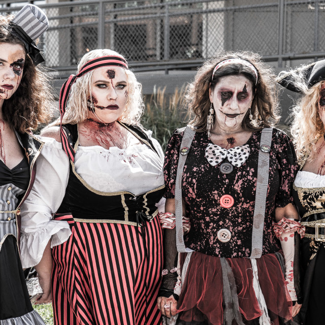 """""""PIRATE WENCH ZOMBIES"""" stock image"""