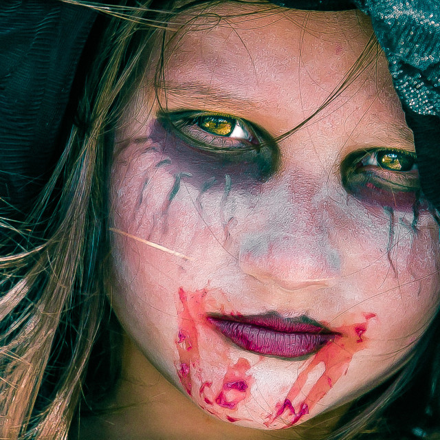 """""""YOUNG GIRL ZOMBIE"""" stock image"""