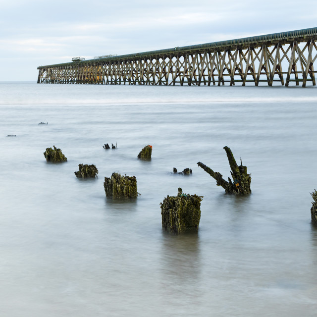 """The Disused Steetley Pier, Hartlepool, County Durham, UK."" stock image"