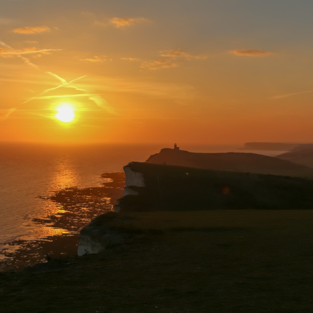 """""""Sunset from the Cliffs"""" stock image"""