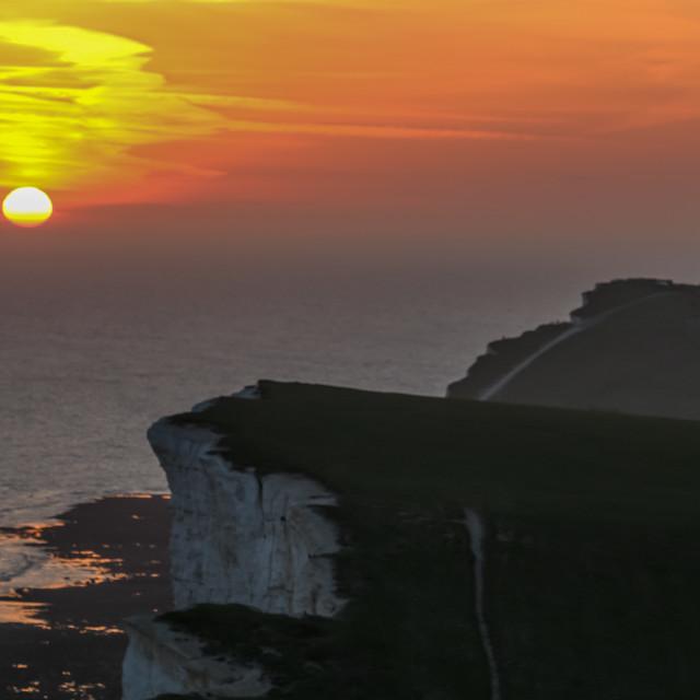 """Belle Tout sunset"" stock image"