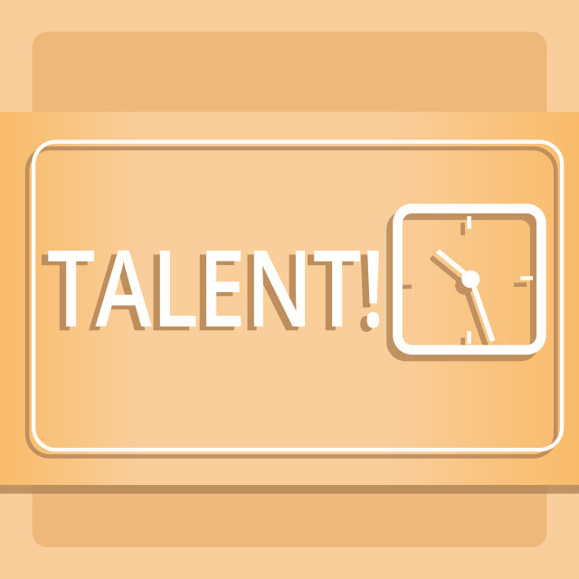 """Text sign showing Talent. Conceptual photo Natural abilities of showing..."" stock image"