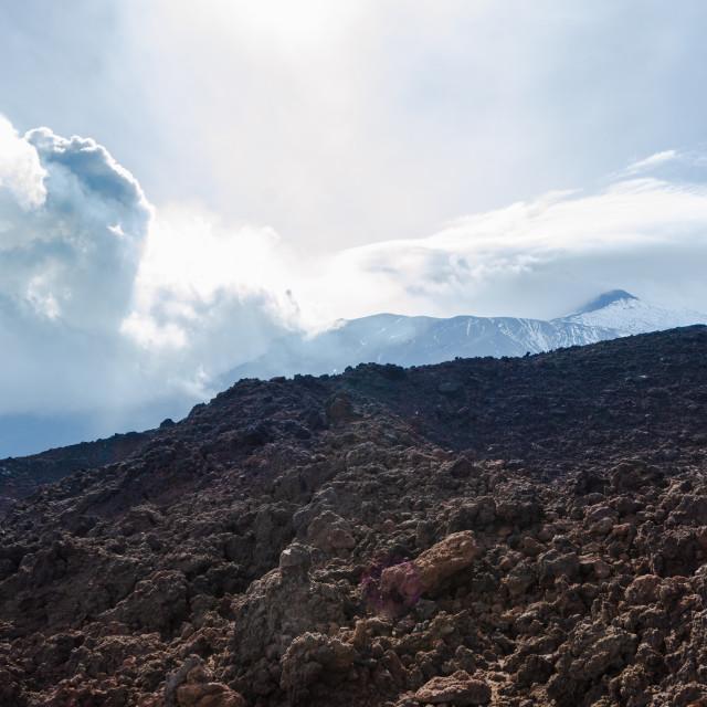 """Mount Etna landscape, Sicily, Italy"" stock image"