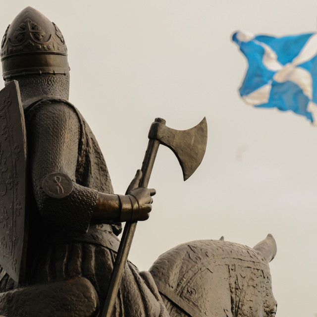 """King Robert the Bruce statue"" stock image"