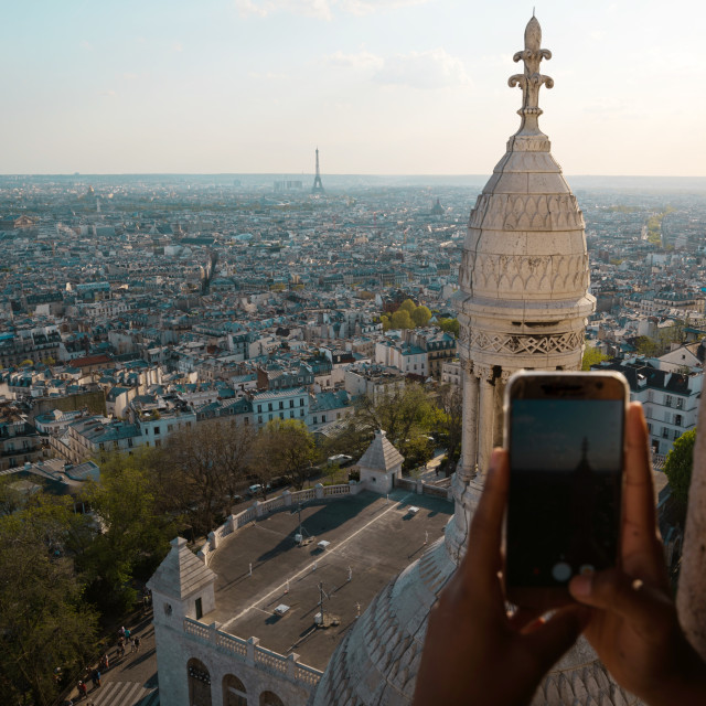 """View of Paris from Montmartre"" stock image"