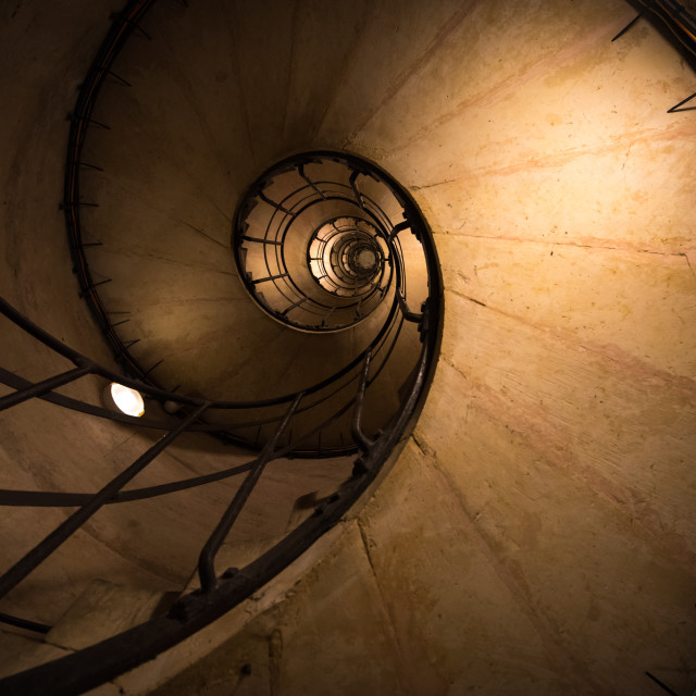 """Old staircase in Paris France"" stock image"