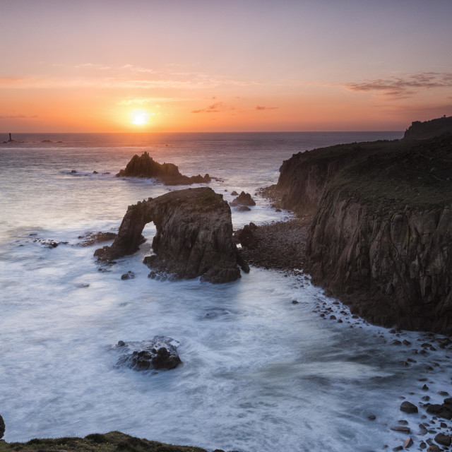 """Land's End Cornwall"" stock image"