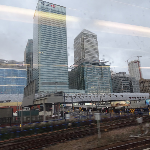 """""""Canary Wharf - SE London Financial District"""" stock image"""