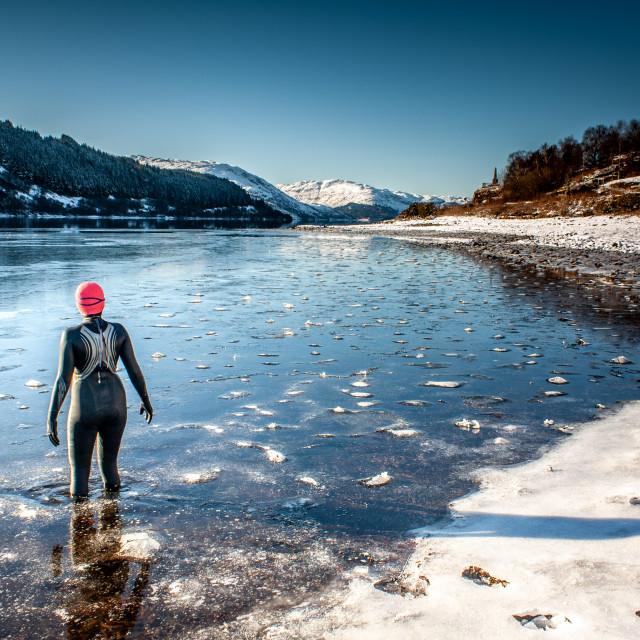 """""""Ice swim"""" stock image"""