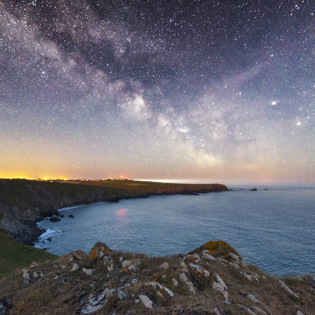 """Milky Way at Kyance Cove"" stock image"