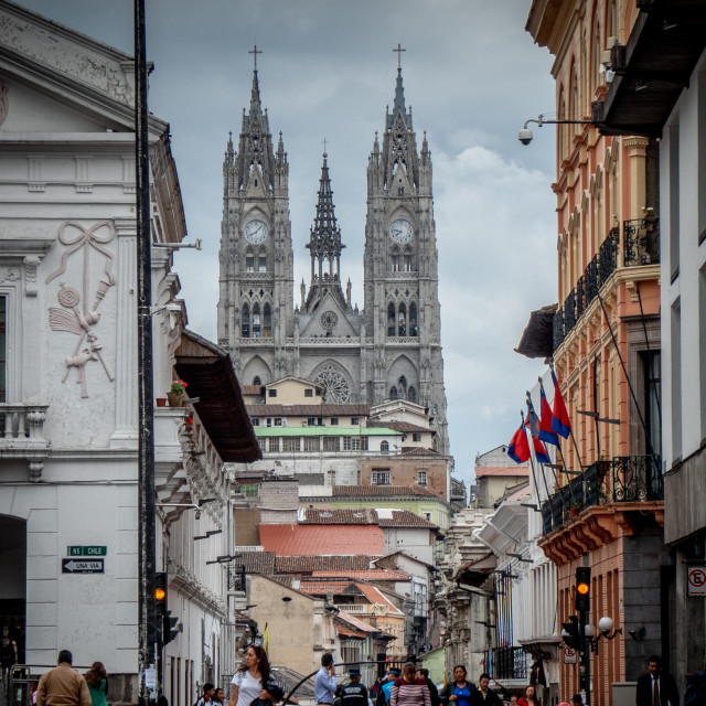 """Quito Old Town"" stock image"