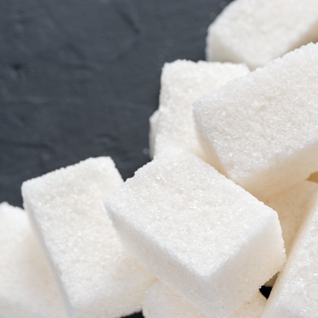 """""""background of white sugar cubes with copy space"""" stock image"""