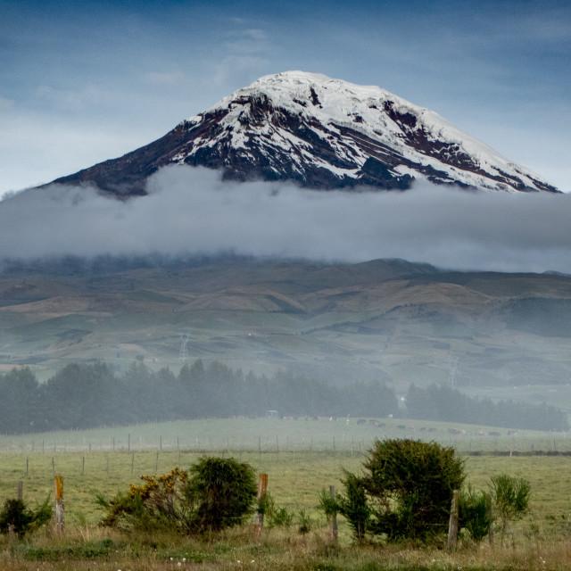 """Chimborazo. Volcano. Cone."" stock image"
