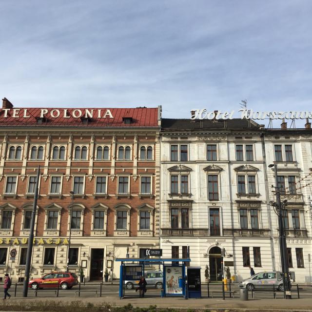 """""""Krakow: Kraków Hotels"""" stock image"""