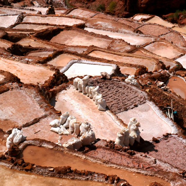 """Salt Pans of Maras"" stock image"