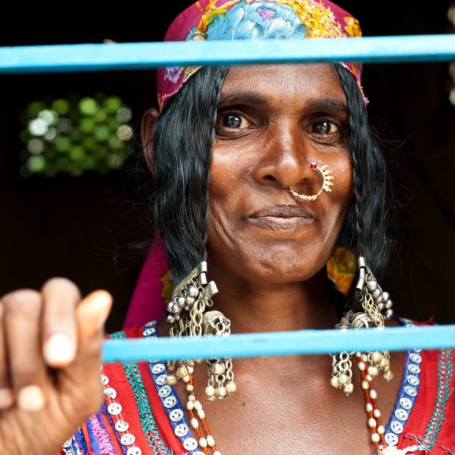 """Lambani woman (India)"" stock image"