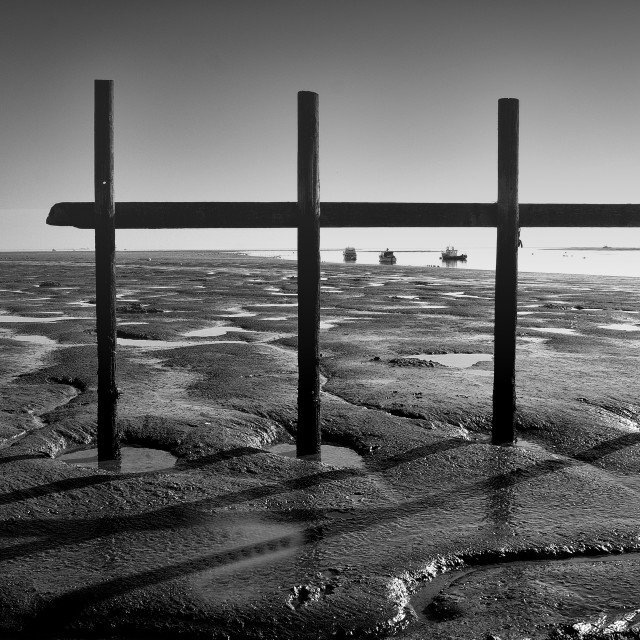 """Mud Flats, Leigh on Sea, Essex, UK"" stock image"