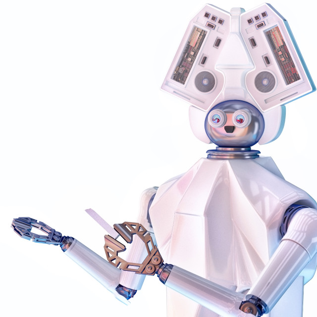 """Robot school teacher"" stock image"