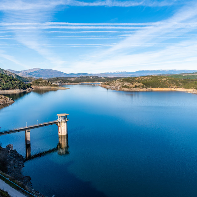 """The Atazar reservoir and dam"" stock image"