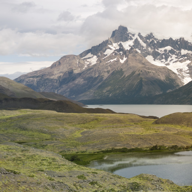 """Scenic Landscape At Torres Del Paine National Park, Patagonia"" stock image"