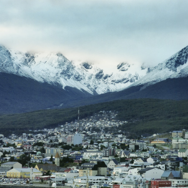 """Ushuaia, The Southernmost City In The World Argentina"" stock image"