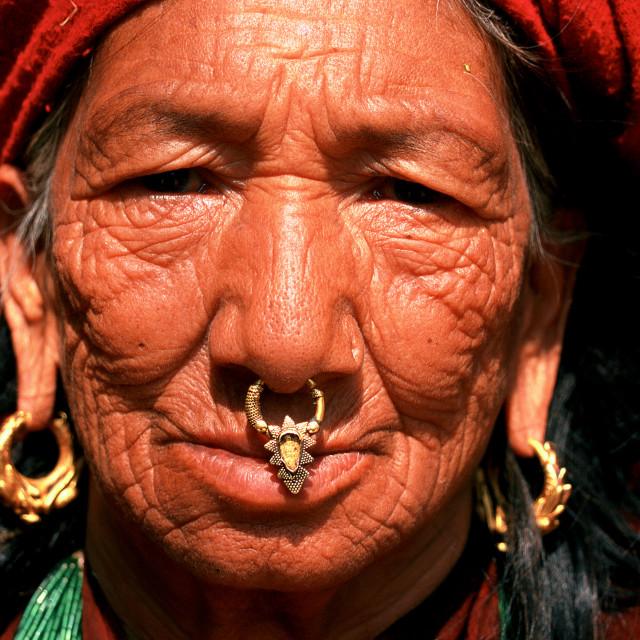 """""""Nepalese woman ( Nepal)"""" stock image"""