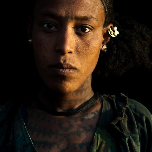 """""""Agow woman ( Ethiopia)"""" stock image"""