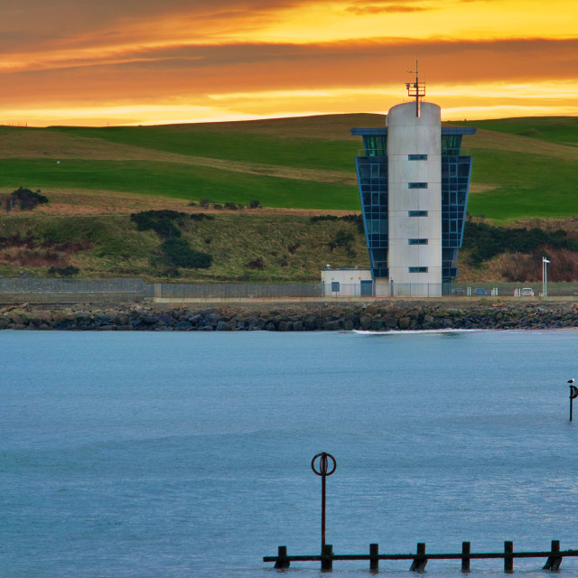 """""""Aberdeen Harbour Control"""" stock image"""