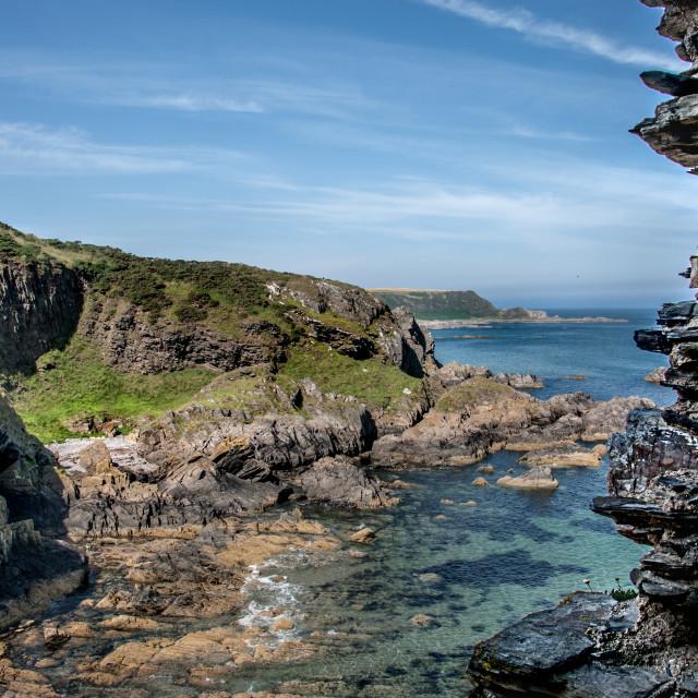 """""""Moray Firth coast"""" stock image"""